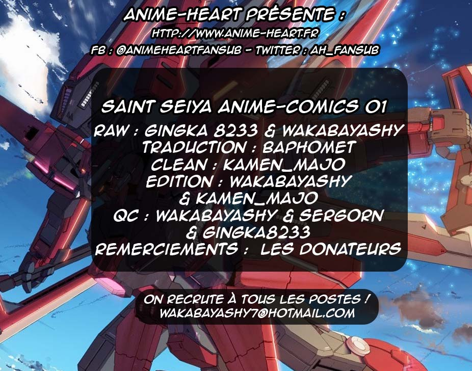 Scantrad - Saint Seiya - Le Film 1 (Anime Comics)